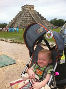 Chichen Itza - Traveling with my baby Dean