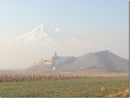 Khor Virap in the shadows of Mt Ararat