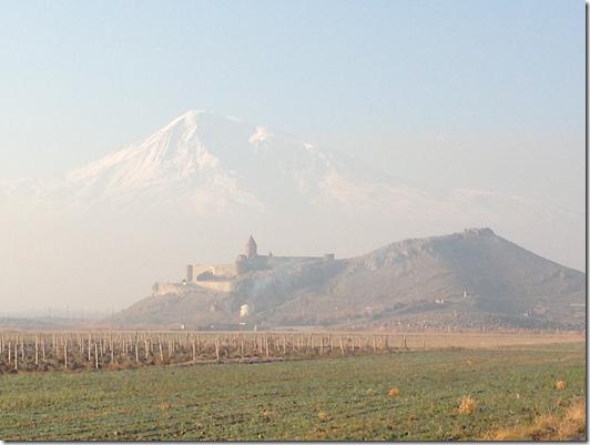 Khor Virap in the shadows of Mt Ararat