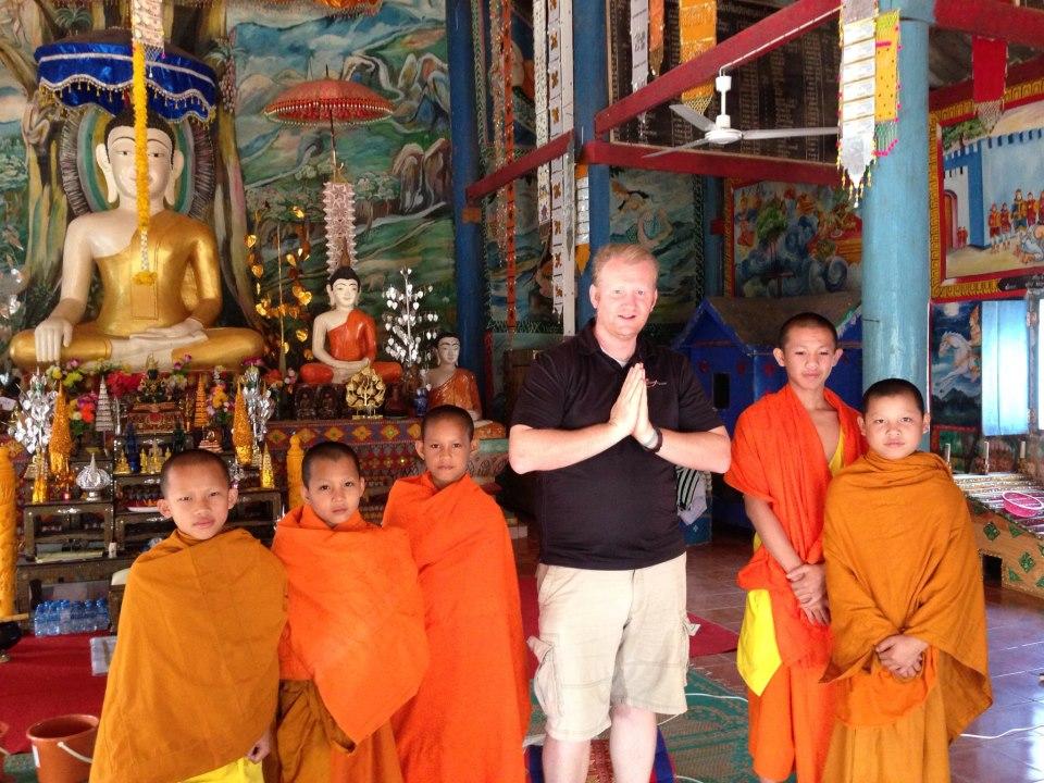 Peaceful Laos monks