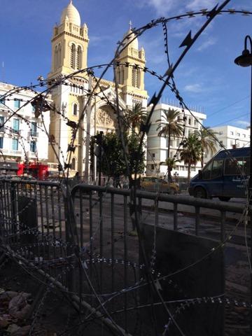 Tunis in Razor Wire Tunisie