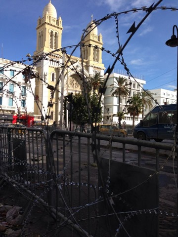 Tunis in Razor Wire Tunisie