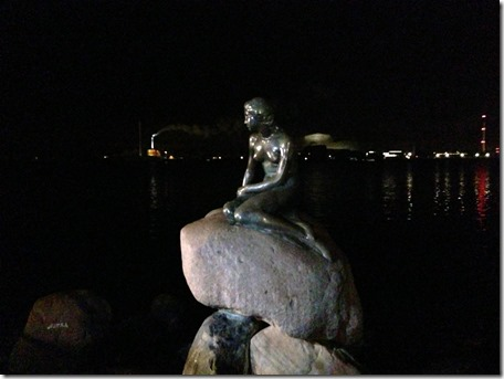 Little Mermaid at Night - Copenhagen