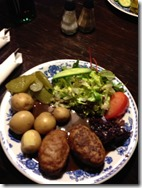Traditional meatballs and potatoes