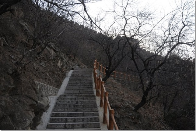 More steps to the great wall of China