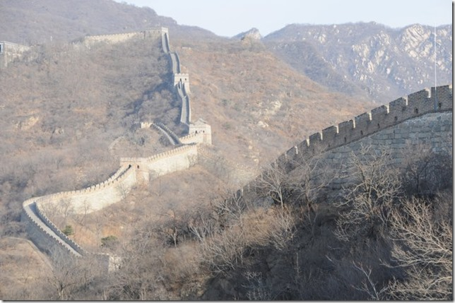 Snaking across the hills - great wall of China