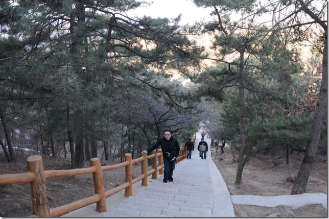 climbing to the great wall