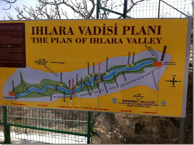 Ihlara Valley Map