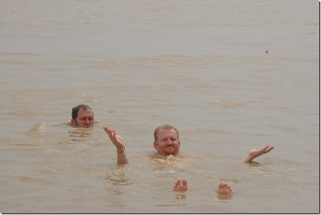Floating in the Ganges