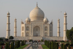 Taj Mahal Mausoleum in India