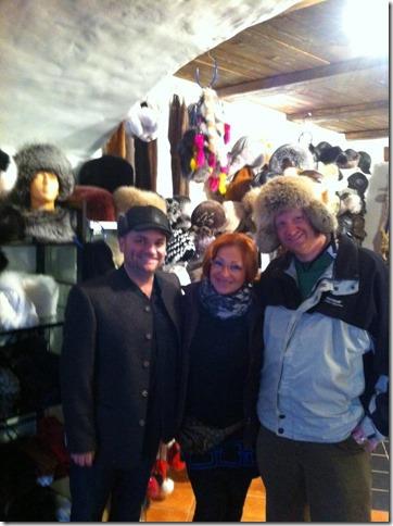 Russian Hats in Estonian Hat store