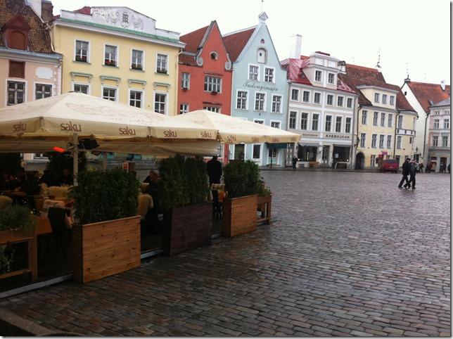 town square in old town estonia