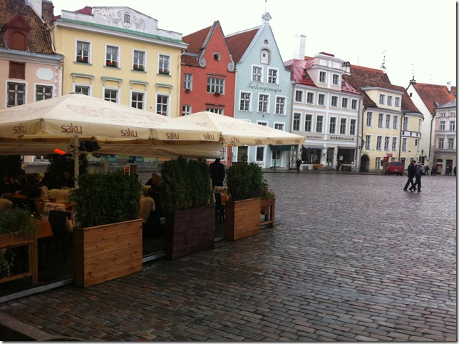 town square in old town estonia