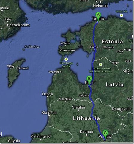 From Tallinn to Vilnius