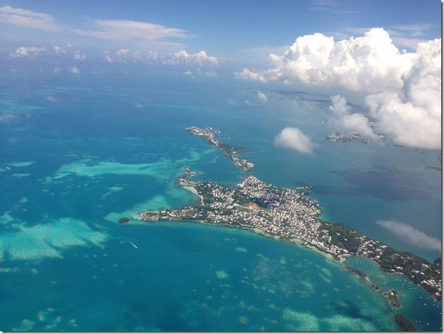 Saint George Bermuda from the air