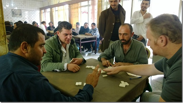 Playing Dominoes game in Iraq