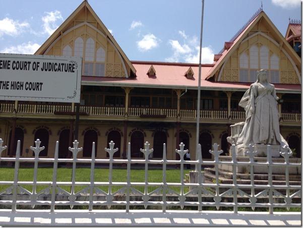 Queen Elizabeth Statue Guyana