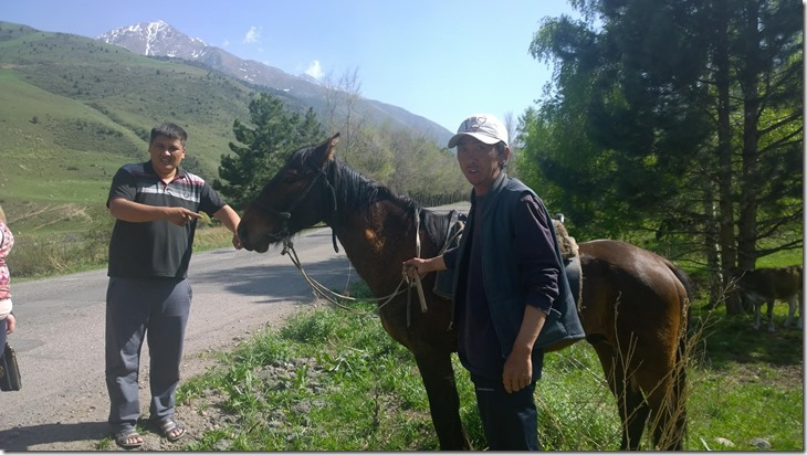 Kyrgyz Shepherd and horse
