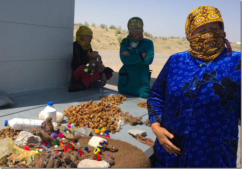Women of the desert of Turkmenistan