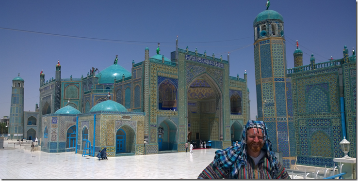 blue mosque of mazar-e sharif afghanistan