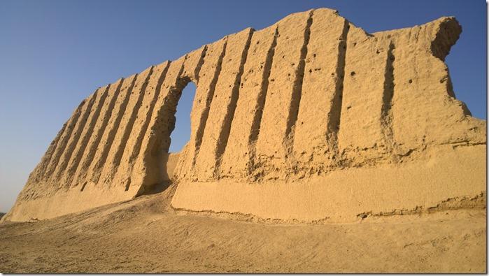 Clay Walls of Kyzkala Palace Unesco Turkmenistan