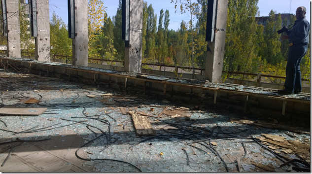 Pripyat hotel broken glass