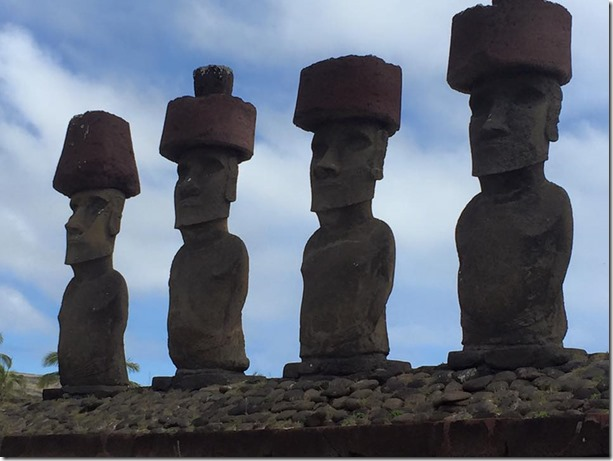 Easter Island Moai with Hats - Joel Oleson