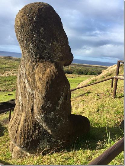 Kneeling Moai Easter Island