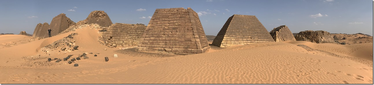 Pyramids of Meroe in Northern Sudan