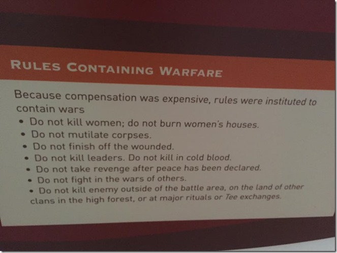 Rules of Warfare in Papua New Guinea