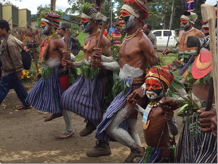 Cultural Dancing in Mt Hagen with little kid