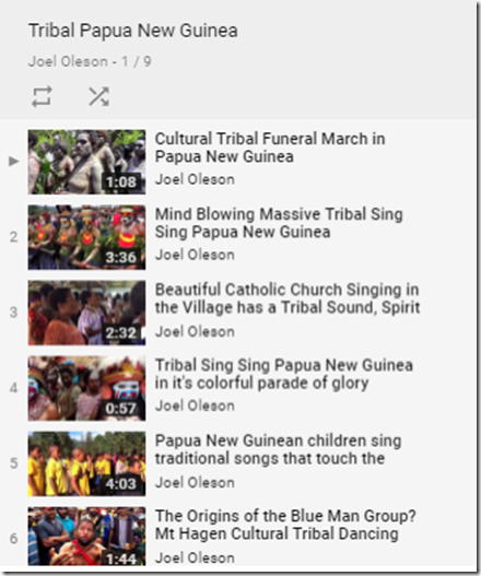 Joel Oleson Youtube Channel - Papua New Guinea Playlist