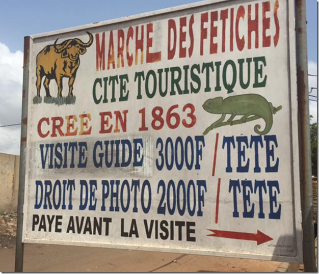 Voodoo Market sign