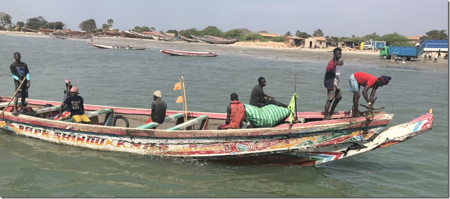 colorful gambian boat