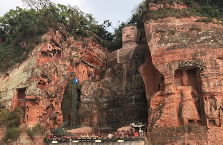 Worlds Largest Ancient Statue Leshan Buddha Statue and Giant Pandas of Chengdu