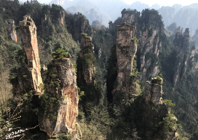 Magical Avatar Stone Forest Hallelujah Mountains in Zhangjiajie National Forest Park China